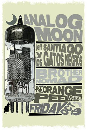 Analog Moon, Jeff Santiago Y Los Gatos Negros, and Brother Nomad at The Orange Peel - October 19, 2012
