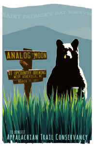 Analog Moon will be performing at UpCountry Brewing to benefit Appalachian Trail Conservancy
